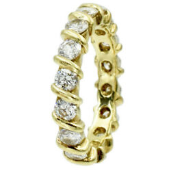 1.75ct Diamond Eternity Band Made In 18k Yellow Gold F-g/vs Round Size 6