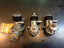 Lot Of 3 Vintage 1950 Oandr Ohlsson And Rice Model Airplane Engines .29 Projects