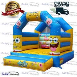13x10ft Inflatable Spongebob Bounce House Bouncer With Air Blower