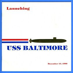 Uss Baltimore Ssn-704 Launching Program December 13, 1980 - 8 Pages