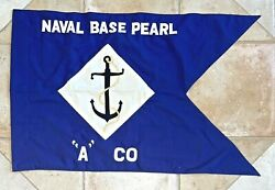 Usn United States Navy Us Naval Base Pearl A Company Blue Anchor Flag