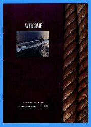 Uss Columbus Ssn-762 Launching Program August 1, 1992 - 10 Pages