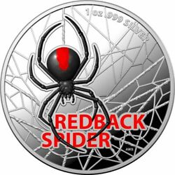 2021 1oz Australiaand039s Most Dangerous - Redback Spider 999 Ag Coloured Proof Coin