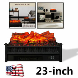 23 Electric Fireplace Log Heater Realistic Flame Hearth Insert Wood Fire 1400w