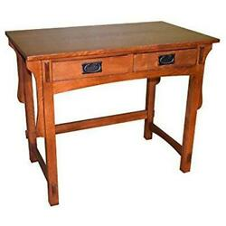 Crafters And Weavers Amish Mission Solid Oak Desk, Library Table, Small Desk 38