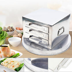 3-layer Stainless Steel Steamer Steam Tray Food Steaming Machine Household Us