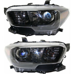 For Toyota Tacoma Headlight 2017-2019 Lh And Rh Pair W/ Led Daytime Running Light