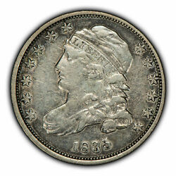 1835 10c Capped Bust Silver Dime - Xf+ Coin - Sku-z1609