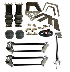 Airmaxxx Front Rear Weld On Kit Notch Parallel 4 Link And Bags For 07-19 Silverado
