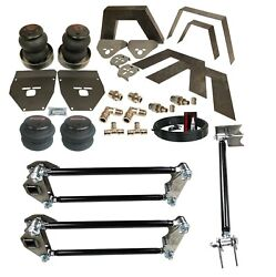 Airmaxxx Front Rear Weld On Kit Notch Parallel 4 Link And Bags For 73-87 Chevy C10