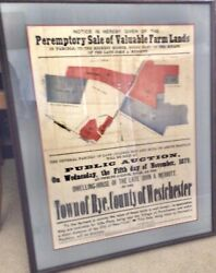 Rare 1879 Westchester County Ny Real Estate Broadside