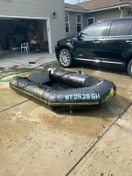 Inflatable 4 Person Zodiak And 2 Outboard Motors