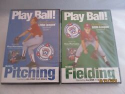 2 Play Ball Dvds Authentic Little League Baseball Guide. Pitching/fielding And03903