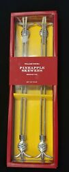 Pineapple Double Skewers Stainless Steel Bbq 15 Set 4-williams Sonoma Sealed