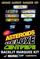 Arcade1up Deluxe Asteroids/centipede 12 In 1 Light Up Marquee Kit For A1up Cab
