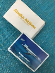 Vintage Alaska Airlines Playing Cards Fly With A Happy Face 54 Cards