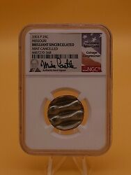 Missouri State Quarter 25c 2003-p Waffle Cancelled Error Coin Ngc Mike Castle