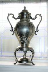 Antique Victorian Silverplate Samovar Coffee Server By Rogers