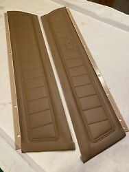 1973 Camaro Standard Light Saddle Middle Section Front Door Panels Pair -pui New