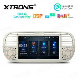 7 Android 10 4-core 2+32gb Car Gps Stereo Radio Wifi 4g For Fiat 500 2007-2015