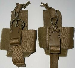 Usmc Coyote Prc-153 Integrated Intra-squad Radio Iisr Pouch Set Of 2 New