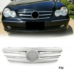 Silver Front Grill Grille For Mercedes Benz C Class W203 2000-2006