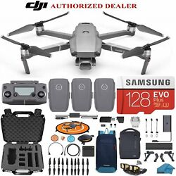Dji Mavic 2 Pro Drone Quadcopter Fly More Combo With 3 Batteries, 128gb Sd...