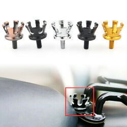 Imperial Crown Style Rear Seat Bolt Tab Screw Nut Mount Cap For Harley 96-up