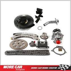 Timing Chain Kit Water Pump Fan Clutch Thermostat Housing Fit 02-07 Chevrolet