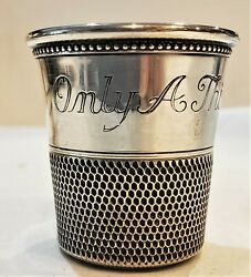 Thomae Sterling Silver Jigger Shot Measure Cup Glass Only A Thimble Full