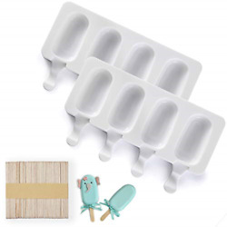 Popsicle Molds 2 Pack Cake Pop Molds Silicone 4 Cavities Homemade Cakesicle 50