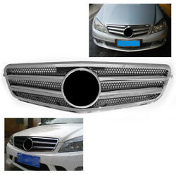 Front Grill Grille Amg Mesh For Mercedes Benz C Class W204 2007-2014