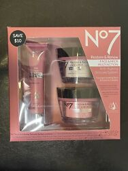 No7 Restore And Renew Multi Action Skincare System New Sale Expire 11/2021