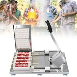 Durable Manual Wear Meat Kebab Machine For Making Cattle Chicken Skewers Bbq