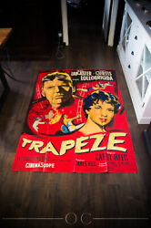 Trapeze Style B 4x6 Ft Vintage French Grande Movie Poster 1956