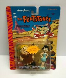 1994 Boley The Flintstones Barney And Betty Wind-up Collector Figurines