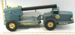 Antique Nylint Toys Naval Defense Missile Launcher Truck Pressed Steel Transport