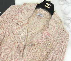 Cotton Knit Cardigan Sequins Beautiful Mixed Tweed 2006 Spring Summer