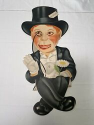 1930's Charlie Mccarthy Ventriloquist Dummy Cardboard Cut-out, 1 Of 2