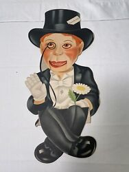 1930's Charlie Mccarthy Ventriloquist Dummy Cardboard Cut-out, 2 Of 2