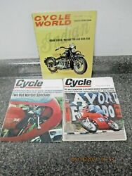 3 - Vintage 1967 Cycle World Magazines With Special Indian Issue Free Shipping