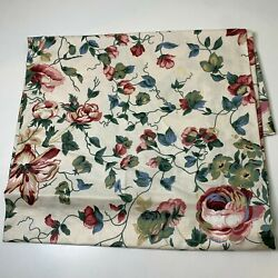 Square Tablecloth Floral Pink Blue Vine 50x54 Traditional Classic Garden