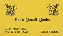 Dan Aykroyd Ray's Stantz Occult Books Business Card Prop Ghostbusters 2 1989