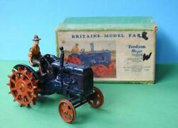 Britains Vintage 1948 Boxed Lead 127f Fordson Major Farm Tractor Spudded Wheels