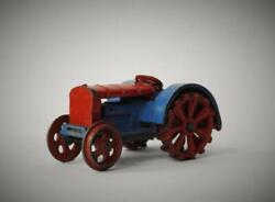 Dinky Toys Meccano 1934-41 Rare Die-cast Lead 22e Farm Tractor Red And Blue
