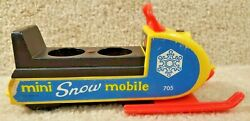 Vintage 1970 Fisher Price Toy Mini Snowmobile 705 Made In Usa