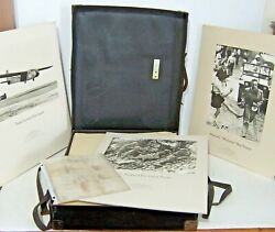 25 Wwii Graflex Sees The War Exhibit Photograph Set W/ Box And Letter -complete