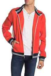 Striped Zip Front Track Jacket Retail 195 Nwt Size M