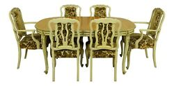 Lf51508ec/09ec French Louis Xv Style Dining Room Table And Chairs Set