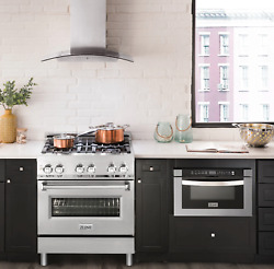 Zline 30 Range W/ Gas Stove And Gas Oven In Stainless Steel Rg30 Ln